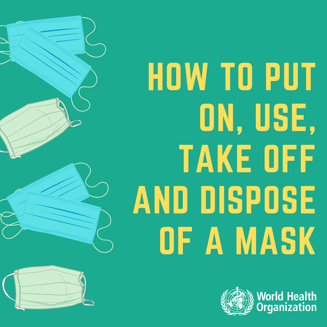 How to put on, use, take off, and dispose of a mask